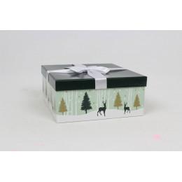 Boîte carrée Forêt enneigée