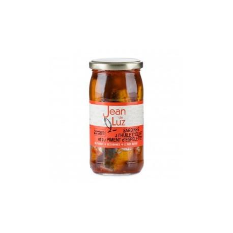 Sardines à l'huile d'olive et piment d'Espelette