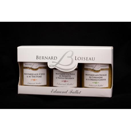 Trio de moutarde Edmond Fallot/Bernard Loiseau