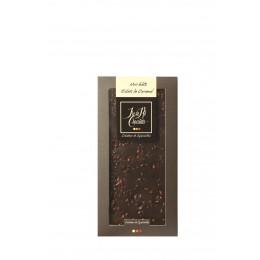 TABLETTE DE CHOCOLAT NOIR 68% ÉCLATS DE CARAMEL